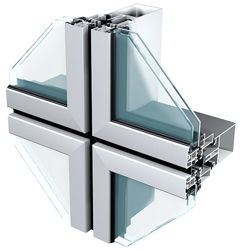 Semi Unitized Curtain Walling Sapa Building System