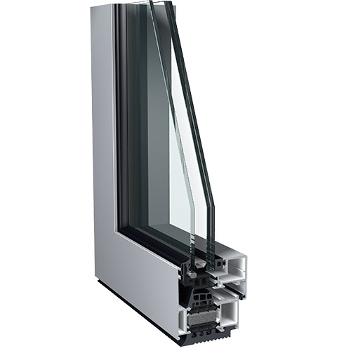 Avantis 75 hv aluminium window with hidden vent by sapa for Ventilation fenetre double vitrage