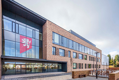 Sapa Building System provided the aluminium doors, windows and curtain walling to University of Birmingham School