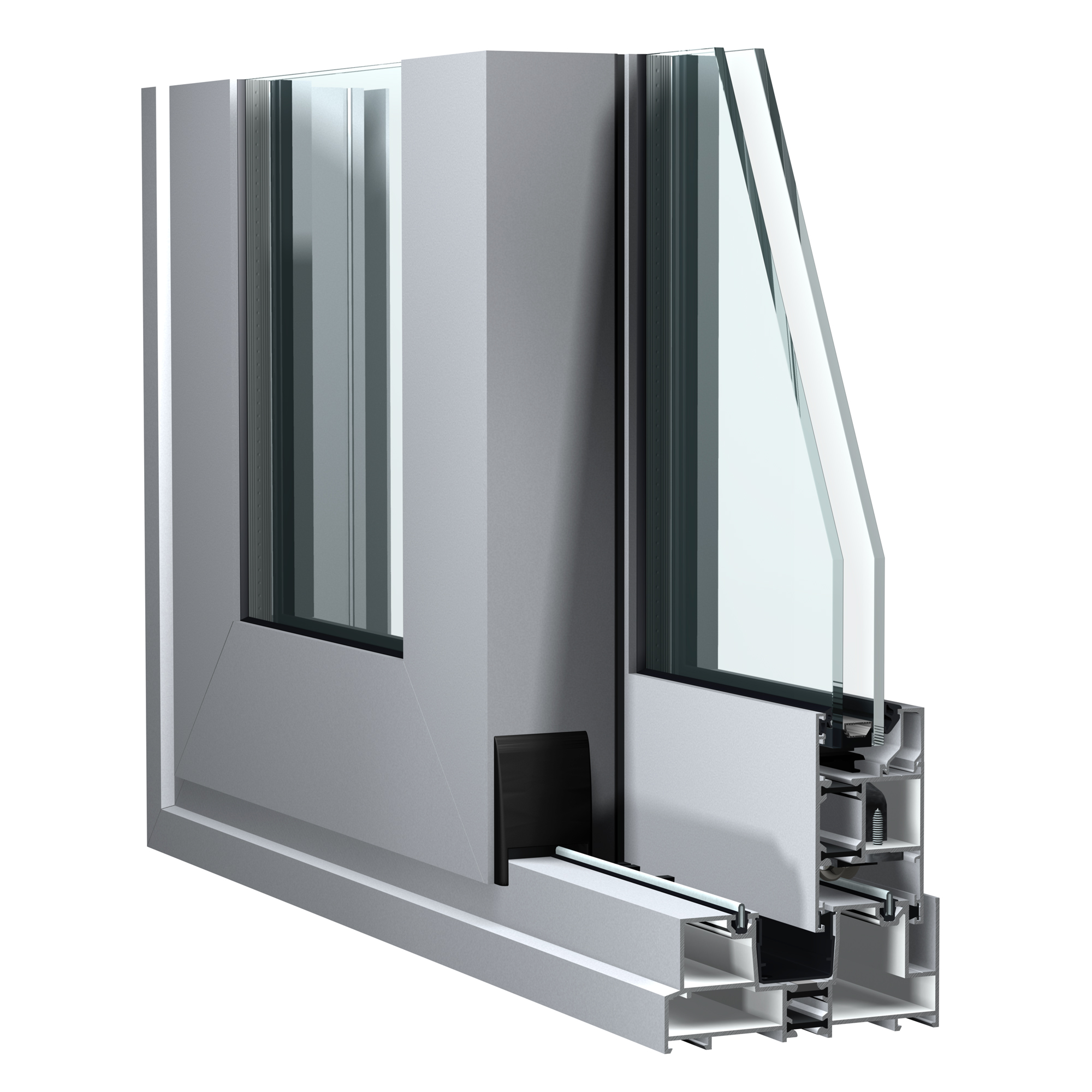 C125 sliding aluminium door system from Sapa