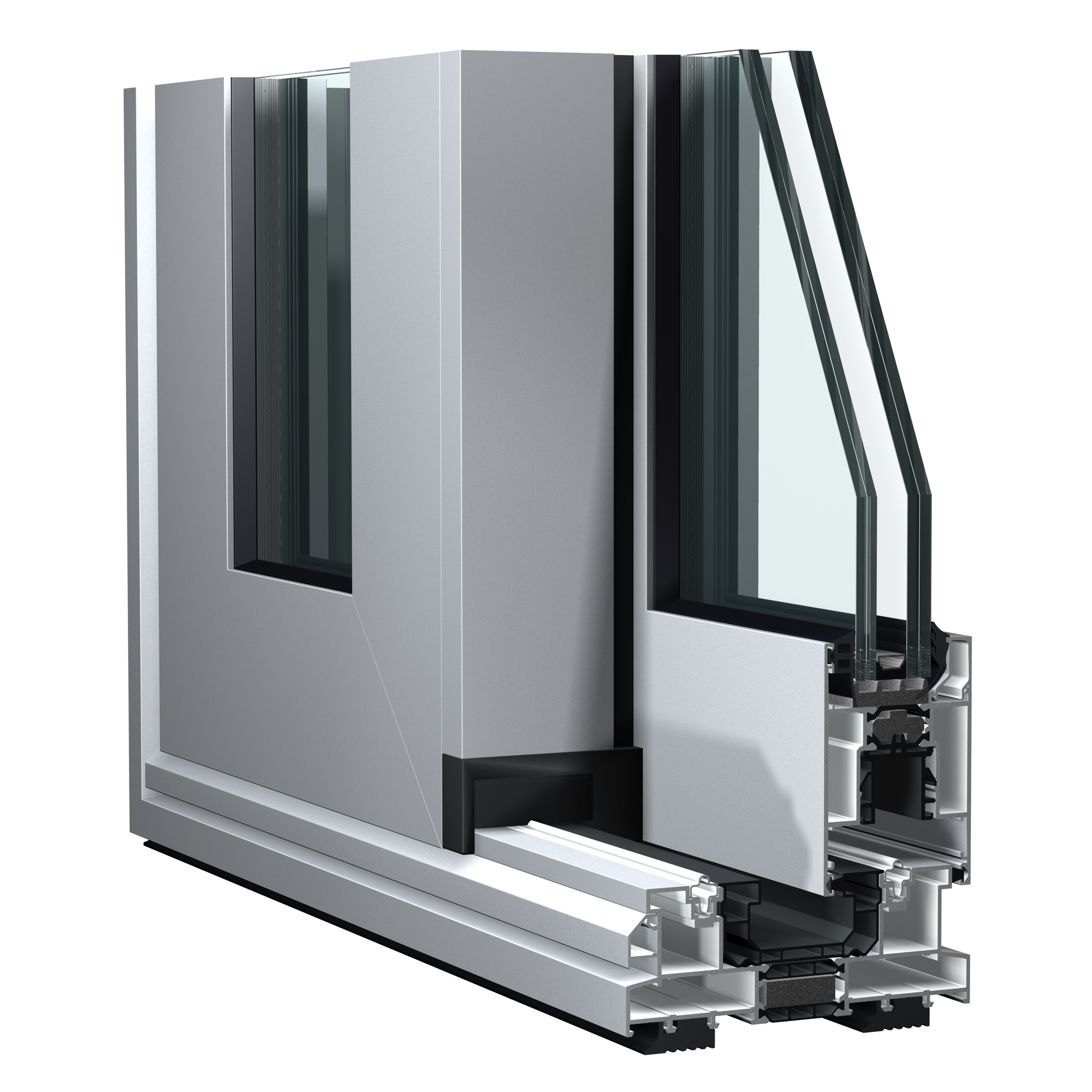 C160 sliding aluminium door system from Sapa