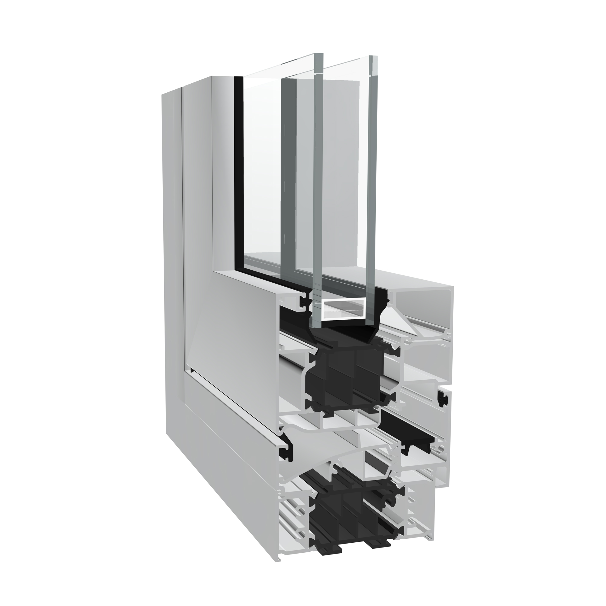 Dualframe 75 Si aluminium pivot window from Sapa