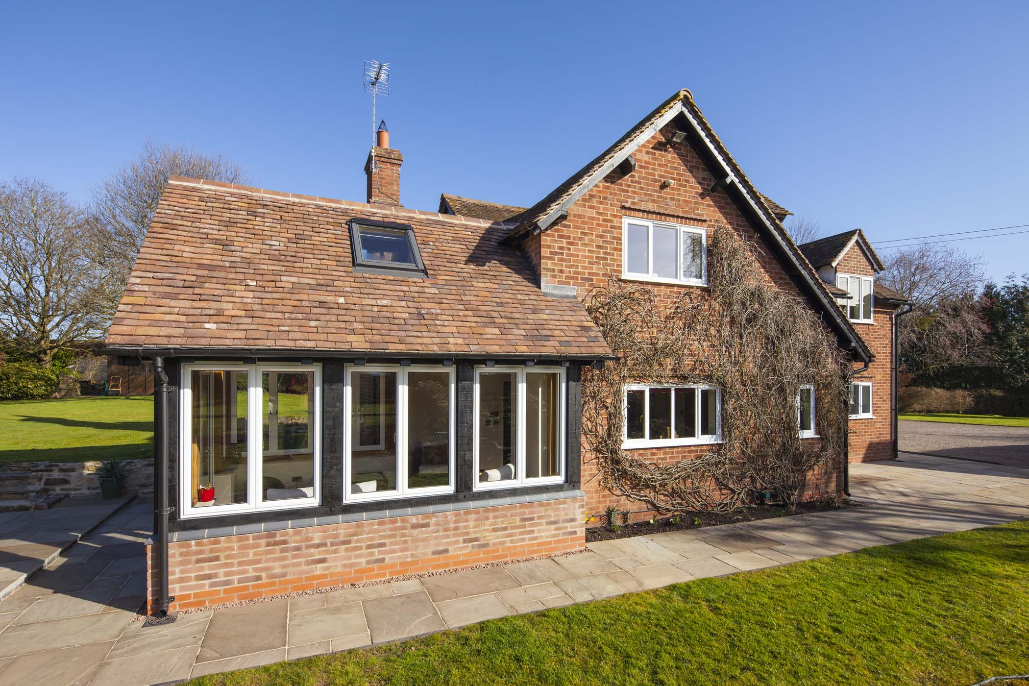 Aluminium Crown Casement windows on a residential project from Sapa