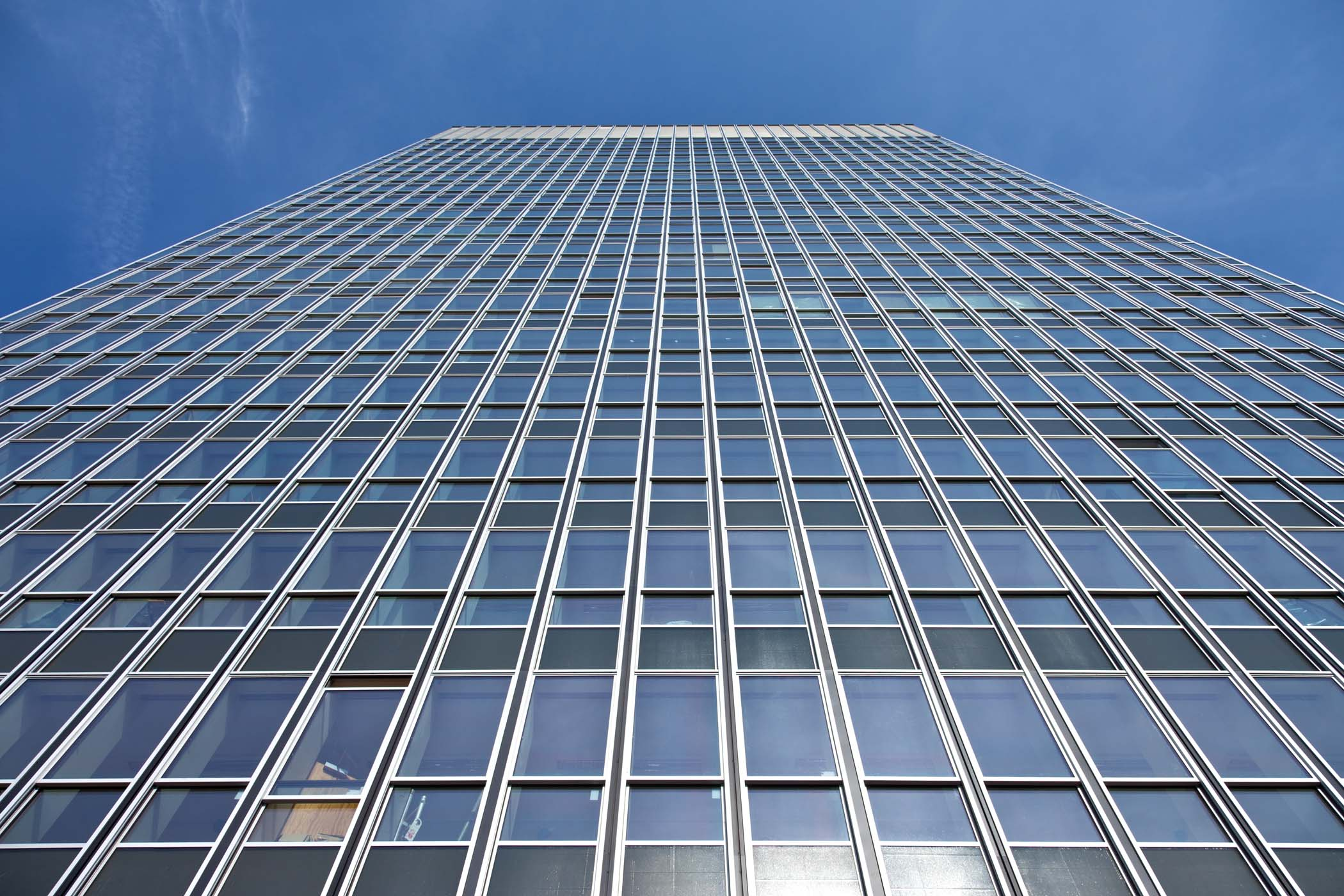 Dualslide aluminium windows from Sapa on a high-rise project