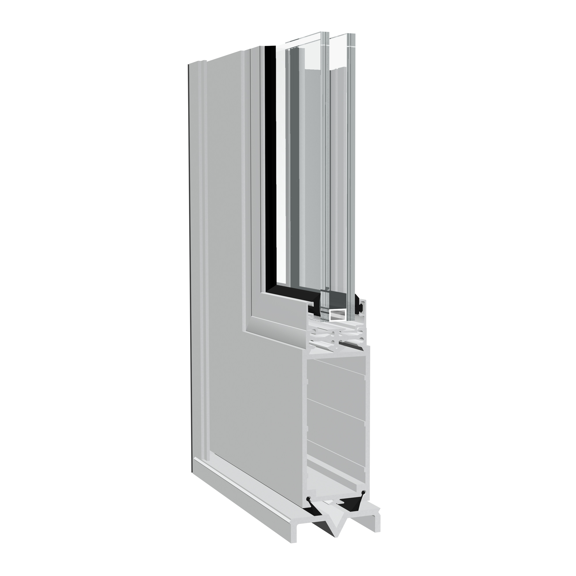 Hawk aluminium large format door from Sapa